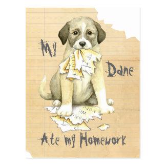 Cartão Postal Meu anatólio comeu meus trabalhos de casa