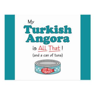 Cartão Postal Meu angora turco é todo o isso! Gatinho engraçado