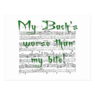 Cartão Postal Meu Bach mais mau do que minha mordida!