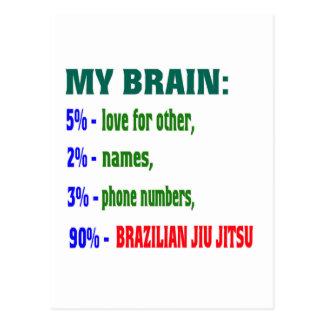 Cartão Postal Meu brasileiro Jiu Jitsu. do cérebro 90%