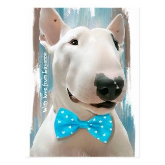 Cartão Postal Meu bull terrier