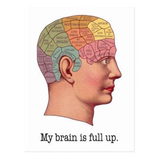 Cartão Postal Meu cérebro é ascendente completo