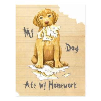Cartão Postal Meu Chessie comeu meus trabalhos de casa