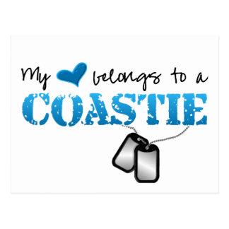 Cartão Postal Meu coração pertence a um Coastie