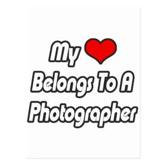 Cartão Postal Meu coração pertence a um fotógrafo