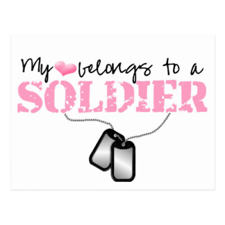 Cartão Postal Meu coração pertence a um soldado