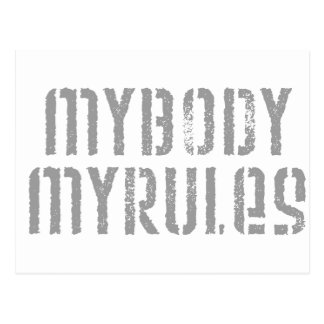 Cartão Postal Meu corpo, minhas regras