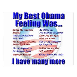Cartão Postal Meu melhor sentimento de Obama era…
