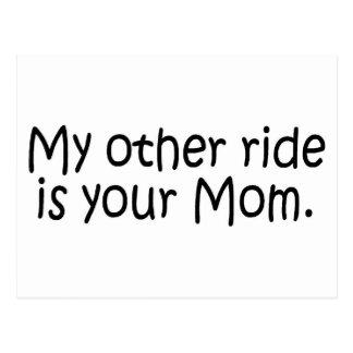 Cartão Postal Meu outro passeio é sua mamã