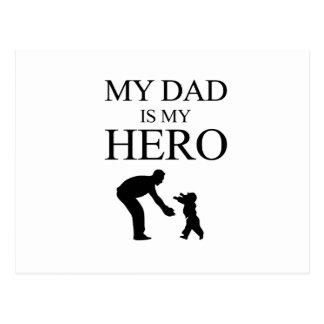 Cartão Postal Meu pai é meu herói