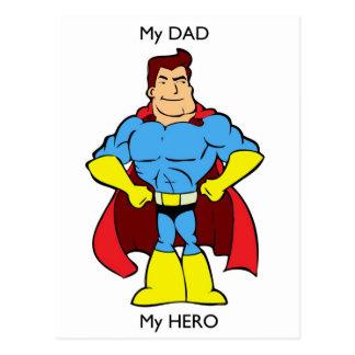 Cartão Postal Meu pai meu super-herói do herói