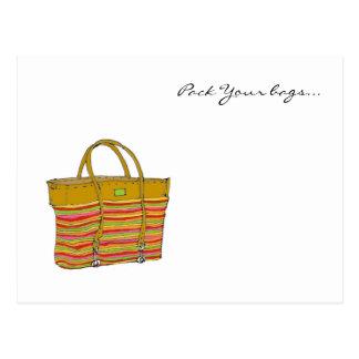 Cartão Postal meu saco, embala suas bolsas…