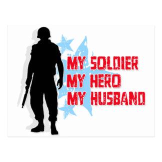Cartão Postal Meu soldado, meu herói, meu marido