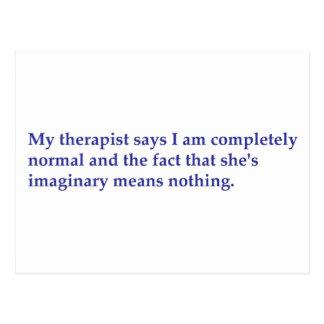 Cartão Postal Meu terapeuta diz
