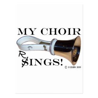 Cartão Postal Meus anéis do coro