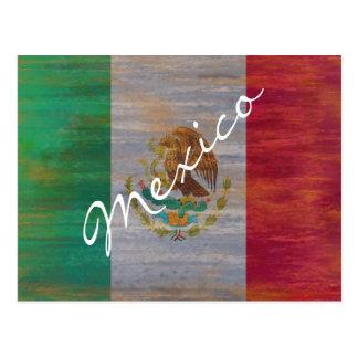Cartão Postal México afligiu a bandeira mexicana