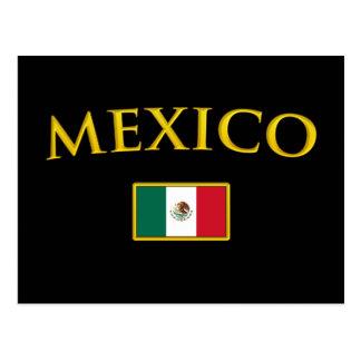 Cartão Postal México dourado