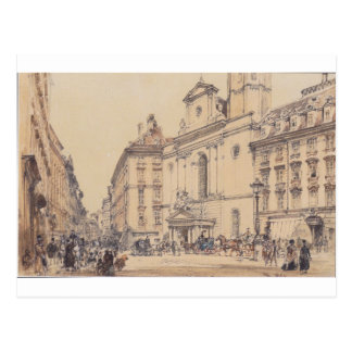Cartão Postal Michaelerplatz e mercado do carbono em Viena por