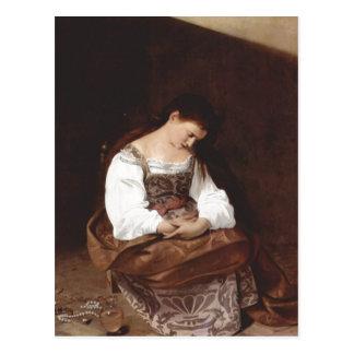 Cartão Postal Michelangelo Merisi a Dinamarca Caravaggio Maria