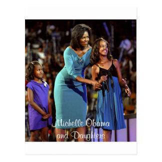 Cartão Postal Michelle Obama e filhas