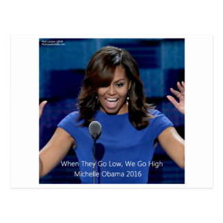 "Cartão Postal Michelle Obama ""nós vamos altamente"" Collectible"