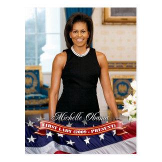 Cartão Postal Michelle Obama, primeira senhora dos E.U.