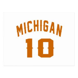 Cartão Postal Michigan 10 designs do aniversário