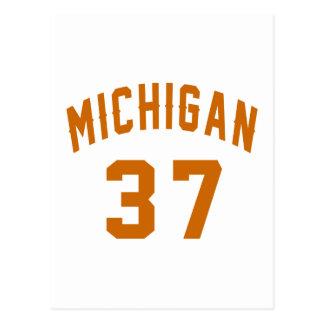 Cartão Postal Michigan 37 designs do aniversário