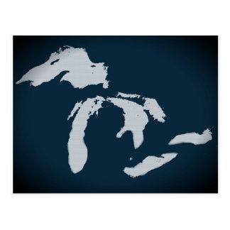 Cartão Postal Michigan e os grandes lagos