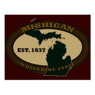 Cartão Postal Michigan Est. 1837