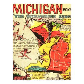 Cartão Postal Michigan o estado de Wolverine