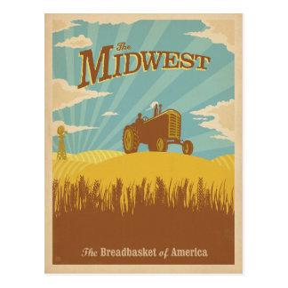 Cartão Postal Midwest   a cesta do pão de América