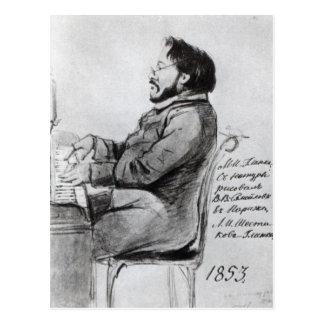 Cartão Postal Mikhail Glinka, 1853