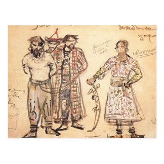 Cartão Postal Mikhail Pechenegs capturado Vrubel-