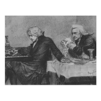 Cartão Postal Mikhail Vrubel- Salieri derrama o veneno, vidro de