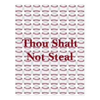 Cartão Postal Mil Shalt para não roubar