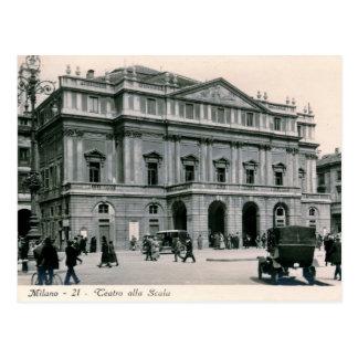 Cartão Postal Milão, Italia, alla Scala de Teatro, vintage