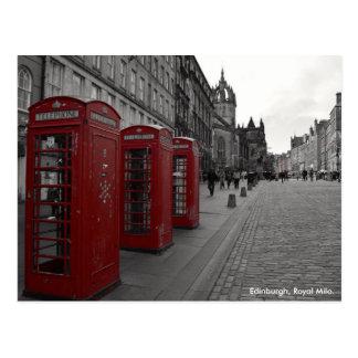 Cartão Postal Milha real Scotland de Edimburgo