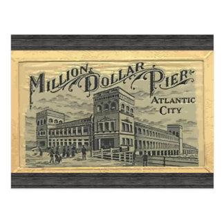 Cartão Postal Milhão cais Atlantic City do dólar, vintage