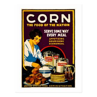 Cartão Postal Milho - a comida da nação