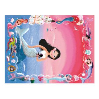 Cartão Postal Milla a ilustração da sereia