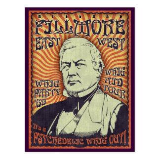 Cartão Postal Millard Fillmore - Whig para fora!