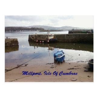 Cartão Postal Millport, ilha de Cumbrae - maré baixa