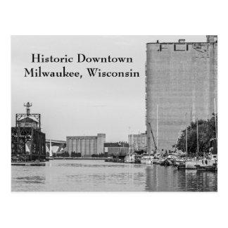 Cartão Postal Milwaukee do centro histórico Wisconsin