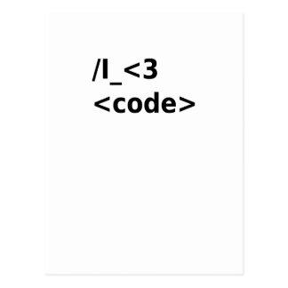 Cartão Postal Mim código <3