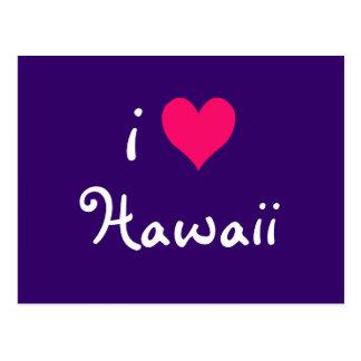 Cartão Postal Mim coração Havaí