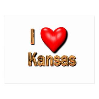 Cartão Postal Mim coração Kansas