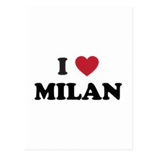 Cartão Postal Mim coração Milão Italia