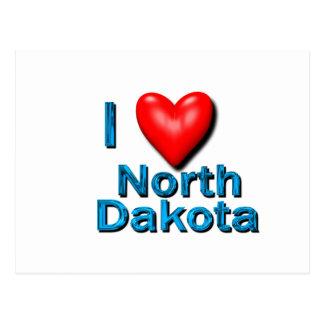 Cartão Postal Mim coração North Dakota