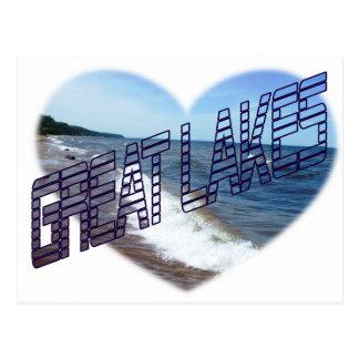Cartão Postal Mim coração os grandes lagos
